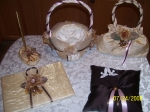 DARK IVORY, TRUFFLE, GOLD WEDDING SET    CHOOSE A COLOR AND WE CAN MAKE A SET JUST FOR YOU !!!