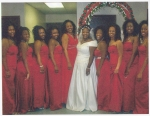 LOVELY BRIDEMAIDS IN CANDY APPLE RED  / MRS.PITTS WEDDING  JUNE 2008