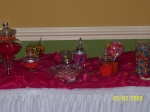 SMALL CANDY BUFFET TABLE FOR A  WEDDING RECEPTION AT THE EMBESSY SUITE HOTEL     JACKSONVILLE, FLORIDA   05/02/2009